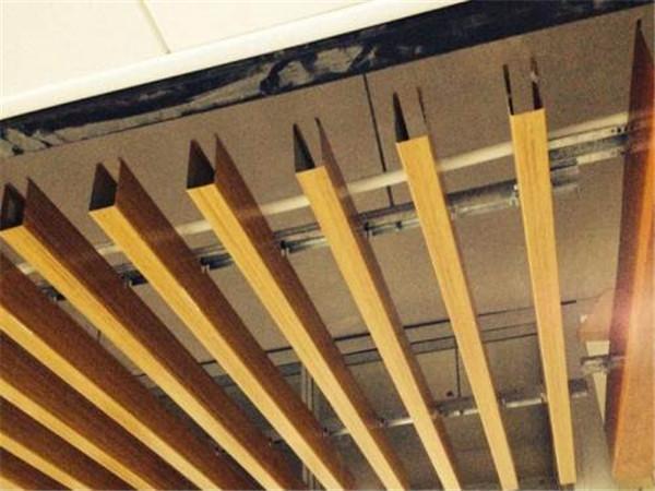 【转印木纹铝方通-木纹铝格栅天花制造厂家】广东